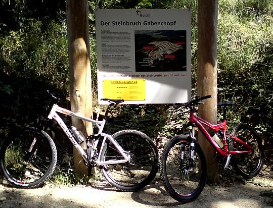 Unsere Bikes am Gabenchopf