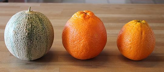 Oranger Riese