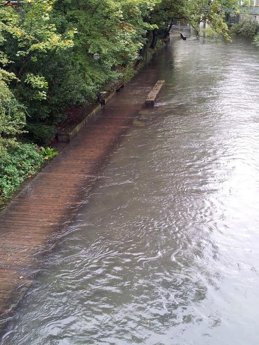 Hochwasser im Schanzengraben