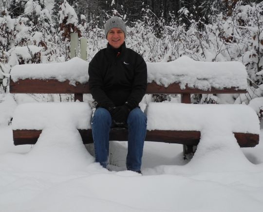 Christof im Schnee