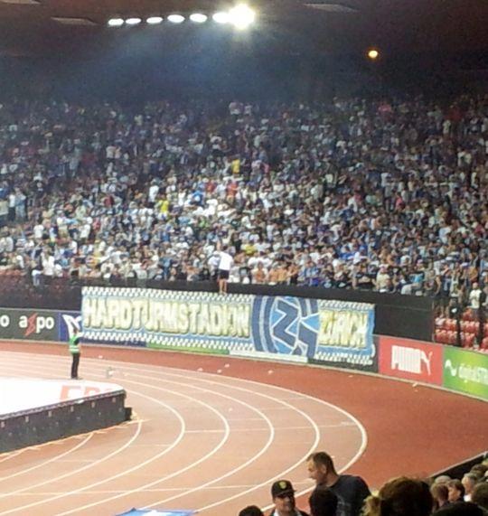 Die GCZ-Fans: Blauweiss und laut!