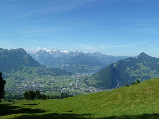 Blick von der Haggenegg ins Tal.