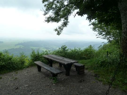 Aussicht von der Buschberghütte.