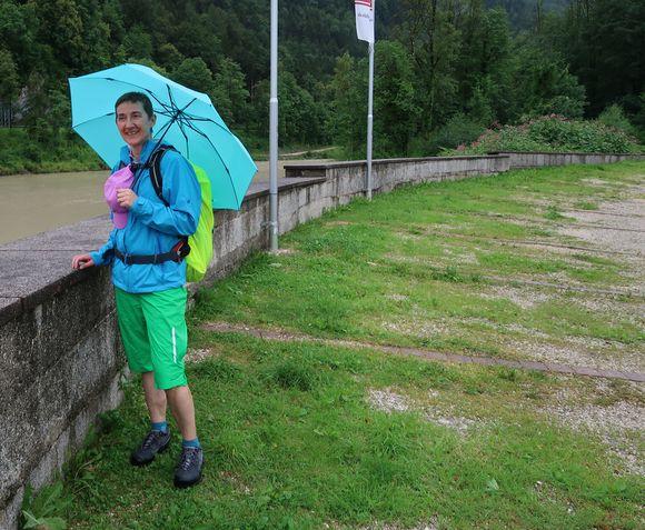 Ankunft in Bad Reichenhall: Es regnet immer noch.