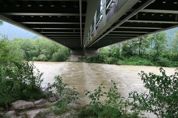 Eisenbahnbrücke über die Lammer.